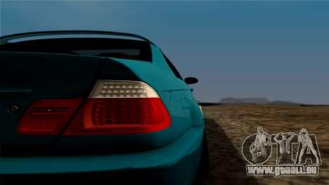 BMW M3 E46 pour GTA San Andreas vue arrière
