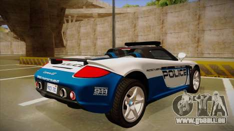Porsche Carrera GT 2004 Police White pour GTA San Andreas vue de droite