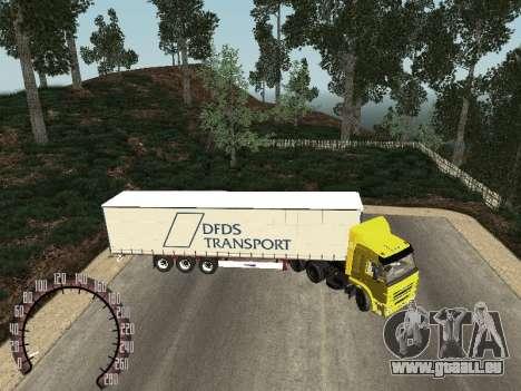 Remorque pour Kamaz 54115 pour GTA San Andreas laissé vue