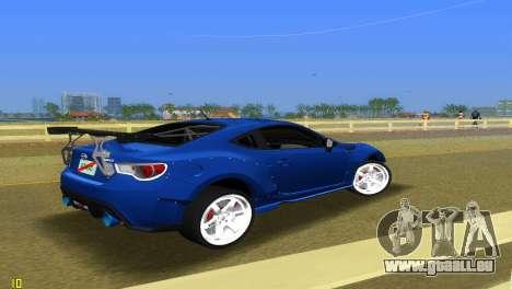 Subaru BRZ Type 5 pour une vue GTA Vice City de la droite