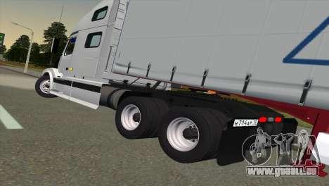 Volvo VNL 670 für GTA San Andreas zurück linke Ansicht