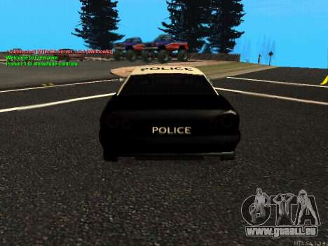 Elegy Police pour GTA San Andreas vue de droite