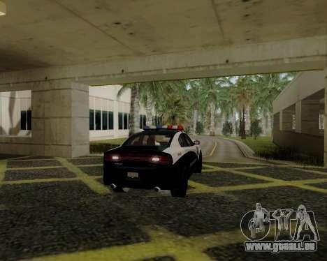 Dodge Charger 2012 Police IVF für GTA San Andreas rechten Ansicht