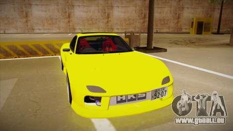 Mazda FD3S BN Sports pour GTA San Andreas laissé vue