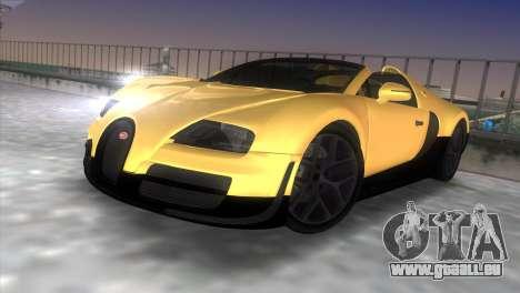 Bugatti Veyron Grand Sport Vitesse pour GTA Vice City