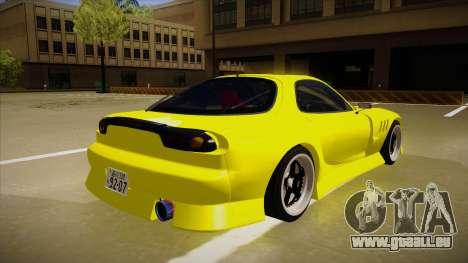 Mazda FD3S BN Sports pour GTA San Andreas vue de droite
