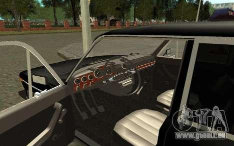 VAZ 2106 Taxi pour GTA San Andreas vue arrière