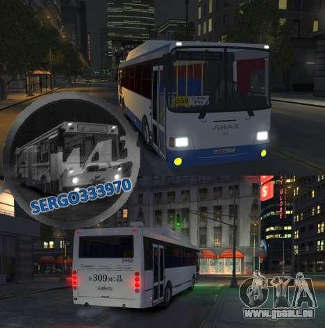 LIAZ 5256.57-01 2013 pour GTA 4 est un côté