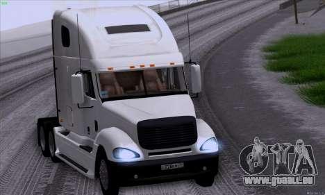 Freightliner Columbia pour GTA San Andreas vue intérieure