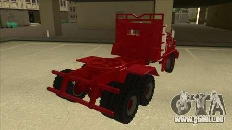 Hayes camion H188 pour GTA San Andreas sur la vue arrière gauche