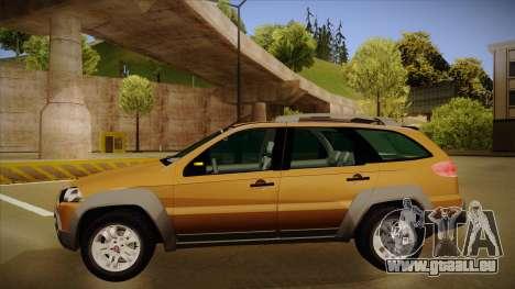 FIAT Palio Weekend Adventure Locker 2010 pour GTA San Andreas sur la vue arrière gauche