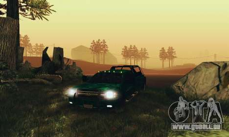 Chevrolet Silverado 3500 Military pour GTA San Andreas vue arrière
