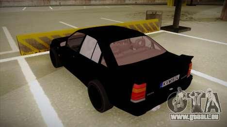 Lotus Carlton für GTA San Andreas Rückansicht