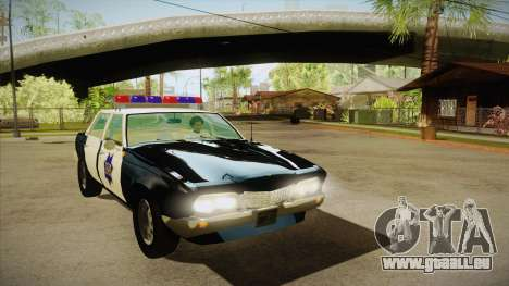 Fasthammer Police SF pour GTA San Andreas vue arrière