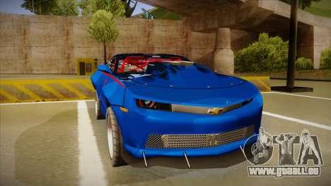 Chevrolet Camaro ZL1 Elite pour GTA San Andreas laissé vue