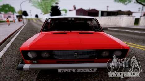 VAZ 2106 Retro pour GTA San Andreas laissé vue