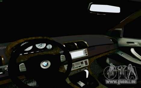 BMW X5 pour GTA San Andreas vue de dessus