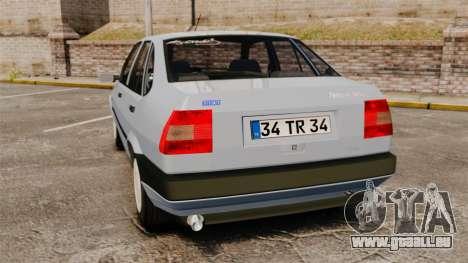 Fiat Tempra SX.A v2.0 pour GTA 4 Vue arrière de la gauche
