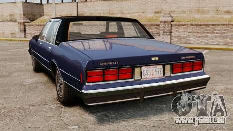 Chevrolet Caprice Brougham 1986 pour GTA 4 Vue arrière de la gauche