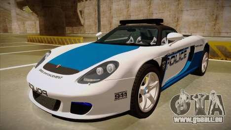 Porsche Carrera GT 2004 Police White pour GTA San Andreas