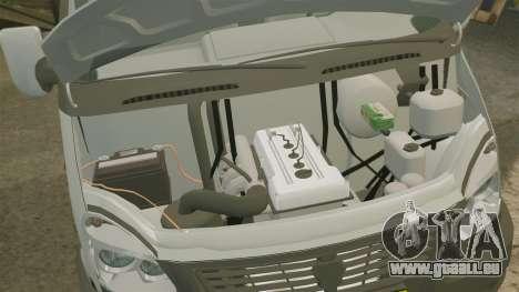 Affaires de gaz-3302 pour GTA 4 est une vue de l'intérieur