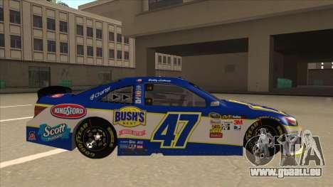 Toyota Camry NASCAR No. 47 Bushs Beans pour GTA San Andreas sur la vue arrière gauche