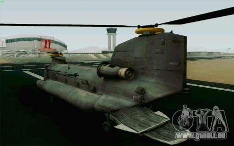 MH-47 für GTA San Andreas linke Ansicht