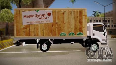 Chevrolet FRR Maple Syrup World pour GTA San Andreas laissé vue