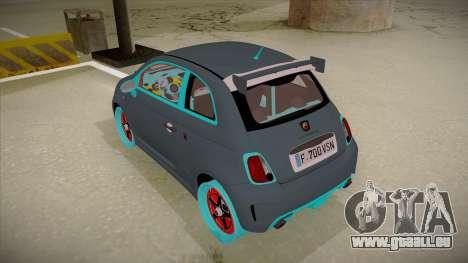 Abarth 500 Esseesse 2010 pour GTA San Andreas vue arrière