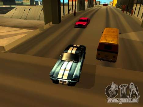 Ford Shelby GT-500E Eleanor für GTA San Andreas Rückansicht