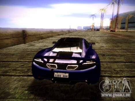 McLaren MP4-12C WheelsAndMore pour GTA San Andreas vue arrière