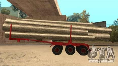 2-Nd-Holz-Träger zu Hayes H188 für GTA San Andreas linke Ansicht
