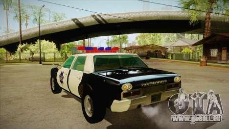 Fasthammer Police SF für GTA San Andreas zurück linke Ansicht