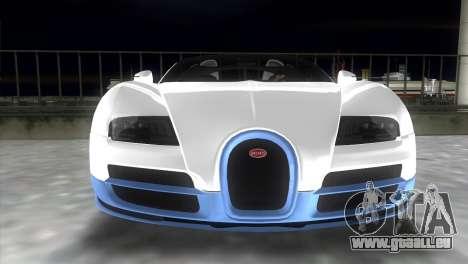Bugatti Veyron Grand Sport Vitesse pour GTA Vice City vue arrière