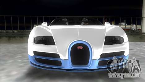 Bugatti Veyron Grand Sport Vitesse für GTA Vice City Rückansicht