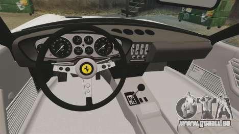 Ferrari Daytona Spider pour GTA 4 est une vue de l'intérieur