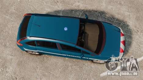 Citroen C4 Gendarmerie [ELS] für GTA 4 rechte Ansicht