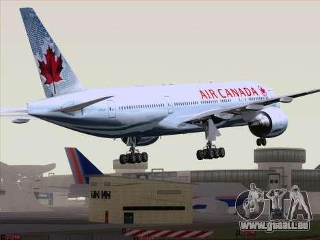Boeing 777-200ER Air Canada für GTA San Andreas zurück linke Ansicht