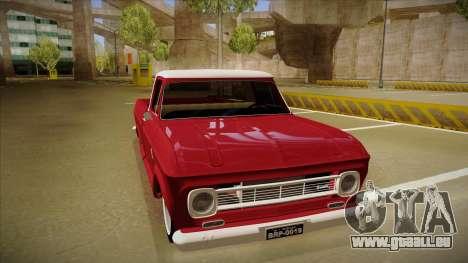 Chevrolet C-10 1974 pour GTA San Andreas laissé vue