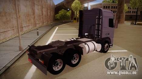 Volvo FH12 Globetrotter pour GTA San Andreas vue de droite
