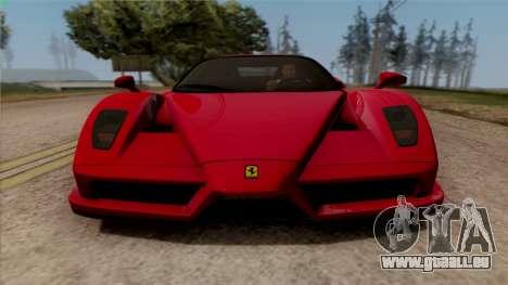Ferrari Enzo 2002 pour GTA San Andreas sur la vue arrière gauche