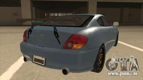 Hyundai Coupe V6 Soft Tuned v1 pour GTA San Andreas vue de droite