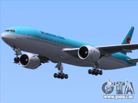 Boeing 777-2B5ER Korean Air pour GTA San Andreas vue intérieure