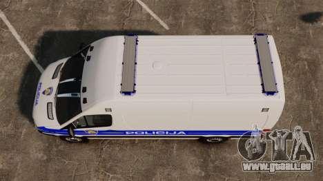 Mercedes-Benz Sprinter Croatian Police v2 [ELS] pour GTA 4 est un droit