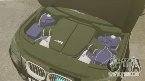 BMW M5 E60 Metropolitan Police Unmarked [ELS] pour GTA 4 est une vue de l'intérieur