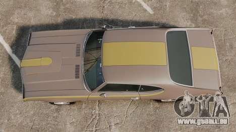 Oldsmobile Cutlass Hurst 442 1969 v1 für GTA 4 rechte Ansicht