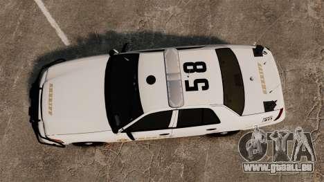 GTA V sheriff car [ELS] pour GTA 4 est un droit