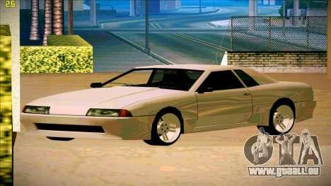 New Elegy pour GTA San Andreas sur la vue arrière gauche