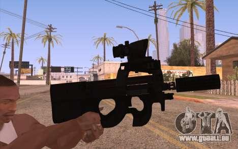 P90 AEG avec lampe de poche pour GTA San Andreas