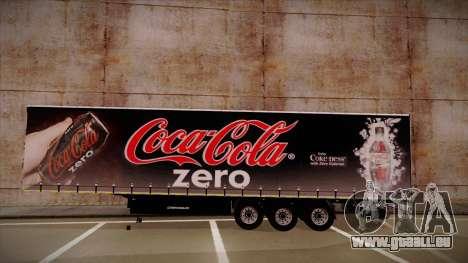 Sider semi-remorque Coca-cola zéro pour GTA San Andreas